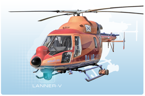 Lanner-V on the flying laboratory Ansat-LL